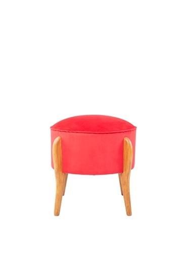 Ze10 Design Lockett Puf Kırmızı Kırmızı